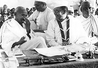 Gandhi and Bose at the Indian National Congress, 1938