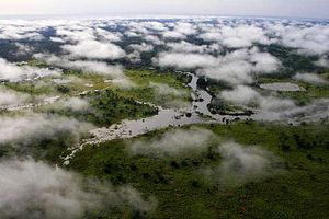 Garamba National Park - An overhead view of the park
