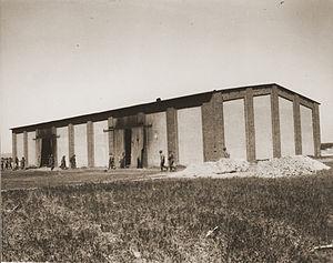 Gardelegen massacre - The barn set on fire in the Gardelegen Massacre