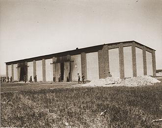 102nd Infantry Division (United States) - The barn set on fire in the Gardelegen Massacre.