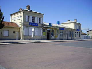 railway station in Mitry-Mory, France
