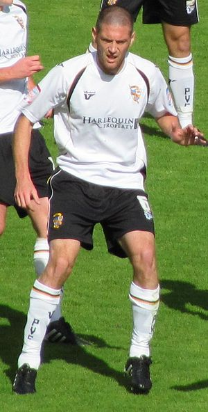 Gareth Owen (footballer, born 1982) - Owen defends the Vale goal from the Aldershot Town threat in a 1–0 home victory in September 2010.