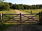 File:Gates at the end of Twiggs Lane End, New Forest - geograph.org.uk - 200283.jpg