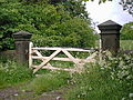Gateway from Badger Lane to Stubben Edge Hall Grounds - geograph.org.uk - 306308.jpg