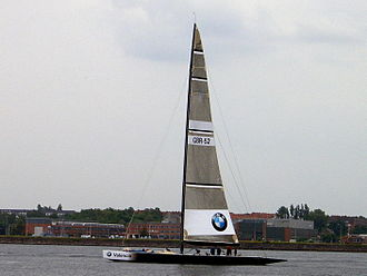 Regatta - IACC-class Yacht at the Kiel Week 2005.