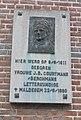 Gedenkplaat van Johanna Courtmans-Berchmans in Oudegem.jpg