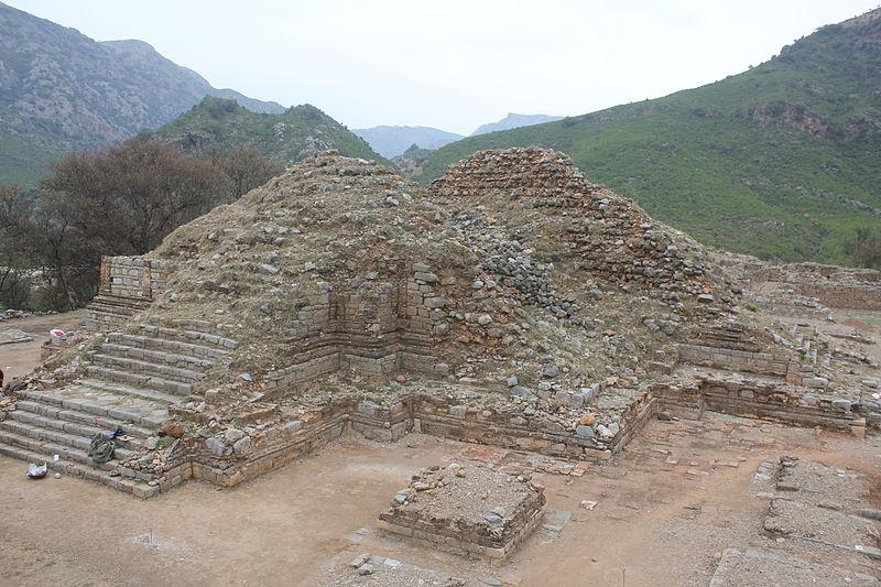 Situs Buddhis Stupa Bhamala, di Khyber Pakhtunkhwa, Pakistan.