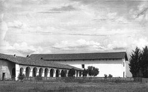 Mission San Miguel Arcángel - Mission San Miguel Arcangel around 1906