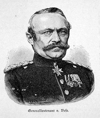 Battle of Podol - Generalmajor Julius von Bose led the Prussian attack that captured Podol and the bridges over the Iser.