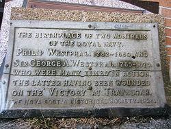 Photo of George Augustus Westphal grey plaque