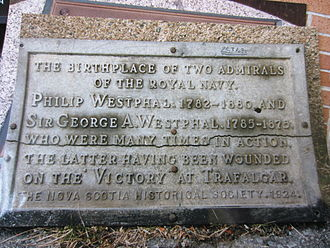 George Augustus Westphal - Royal Nova Scotia Historical Society Plaque to Westphal's Birthplace, Dartmouth, Nova Scotia (Dartmouth Heritage Museum)