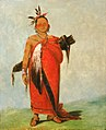 George Catlin - Hongs-káy-dee, Great Chief, Son of The Smoke - 1985.66.97 - Smithsonian American Art Museum.jpg