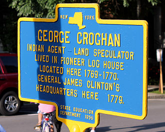 George Croghan - Historical marker honoring Croghan in Cooperstown, New York.