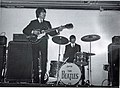 George Harrison and Ringo Starr, King's Hall, Belfast 1964 (18226096790).jpg