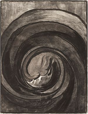 Blue (O'Keeffe series) - Georgia O'Keefe, No. 8 Special, charcoal drawing, 1916