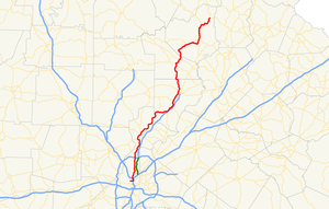 Georgia State Route 9 - Image: Georgia state route 9 map