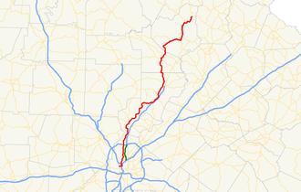 Georgia State Route 9 - Image: Georgia state route 9 map