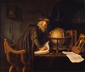 Old Man with a Globe