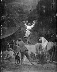 Gerbrand van den Eeckhout: En engel åbenbarer sig for hyrderne