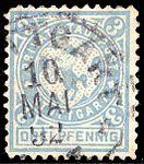Germany Stuttgart 1890-99 local stamp 3pf - 14c used (3).jpg