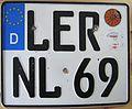 Germany motorcycle licenseplate lower saxony kreis Leer.JPG