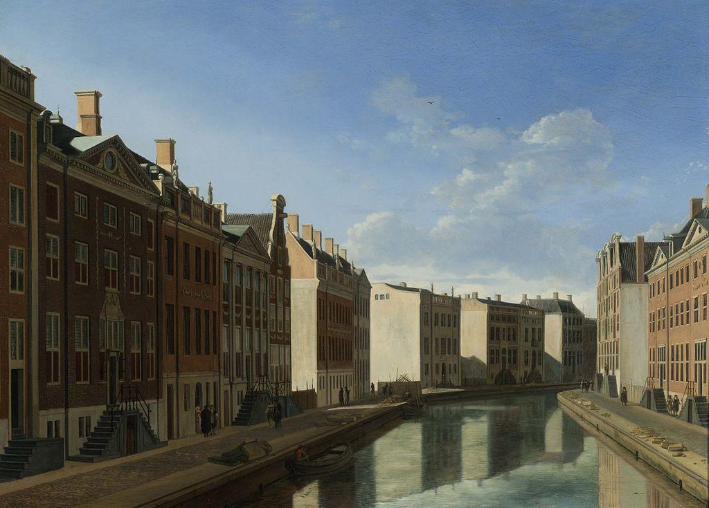 Herengracht Amsterdam da Gerrit Adriaenszoon Berckheyde (1672)