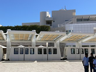 Getty Center Tram - Image: Getty Center Monorail station