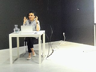 image of Ghada Amer from wikipedia