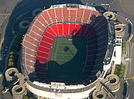 An aerial view of Giants Stadium