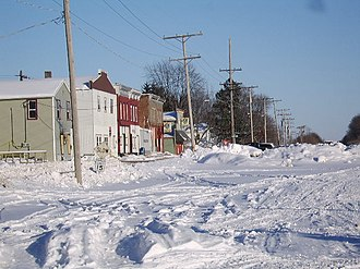 Apple River, Illinois - Apple River - Railroad Street in Winter 2008