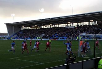 2010–11 Gillingham F.C. season - Action from the 0–0 draw away to Shrewsbury Town in February