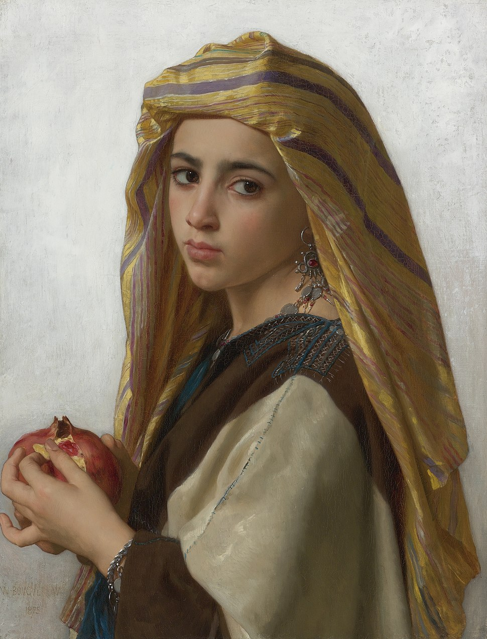 Girl with a pomegranate, by William Bouguereau
