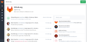 Interface de GitLab.