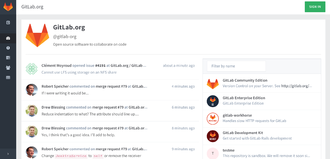 GitLab - Image: Gitlab screenshot december 2015