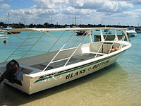 Glass bottom boat Grand Baie.JPG