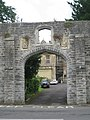 Glastonbury Abbey Retreat House gateway.JPG