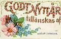 Godt Nytt Ar!, Happy New Year, written in flowers, August Svensson (NBY 1919).jpg