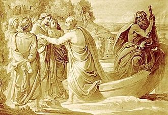 Elysium - Goethe's Ankunft im Elysium by Franz Nadorp
