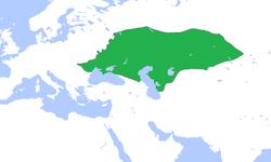 Geografisk placering af Den Gyldne Horde
