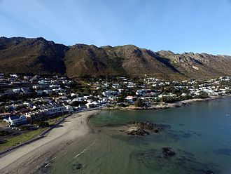 Gordon's Bay - An aerial photograph of the beach at Gordons Bay.