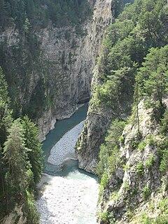 Arc (Savoie) river in France
