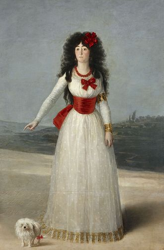 María Cayetana de Silva, 13th Duchess of Alba - The White Duchess, Francisco de Goya, 1795