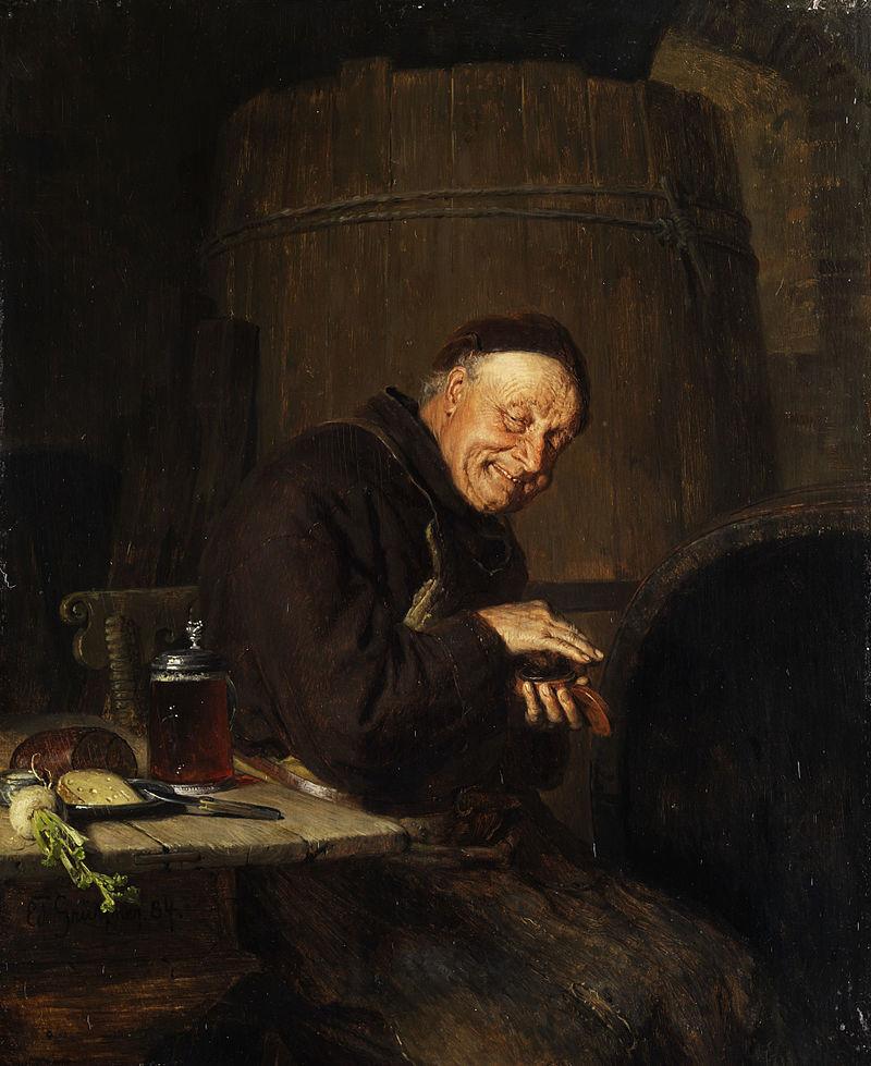 Grützner Vor der Brotzeit 1884.jpg