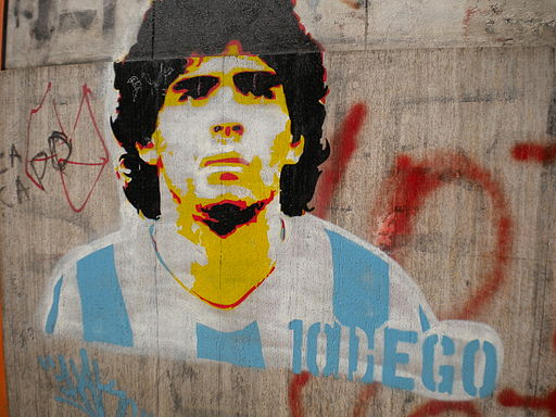 Grafiti Diego Maradona