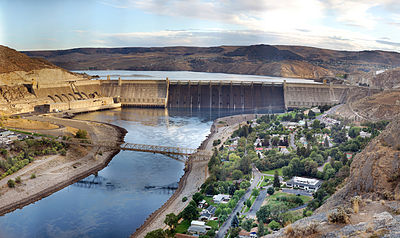 Grand Coulee Dam Wikipedia - Map of powered dams in the us