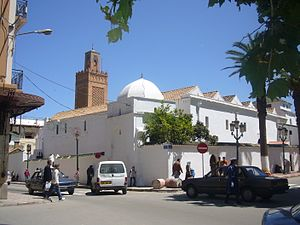 Kingdom of Tlemcen - Great Mosque of Tlemcen. Built under Almoravid sultan Yusuf ibn Tashfin, Sultan Yaghmurasen Ibn Zyan (1236-1283), founder of the Zayyanid dynasty added a section with a minaret and a dome in the 13th century.