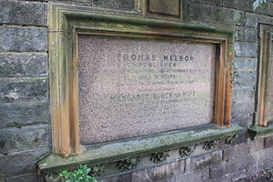 Thomas Nelson (publisher) - Grave of Thomas Nelson, Grange Cemetery, Edinburgh