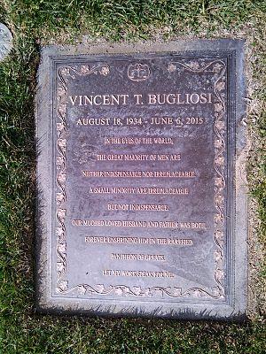 Vincent Bugliosi - Grave of Vincent Bugliosi at Forest Lawn Memorial Park, Glendale