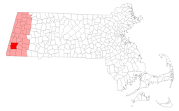 Location of Great Barrington in Berkshire County Massachusetts