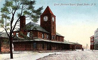 History of Grand Forks, North Dakota - Great Northern depot